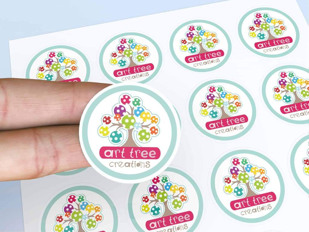 STICKERS WITH ADHESIVE PAPER
